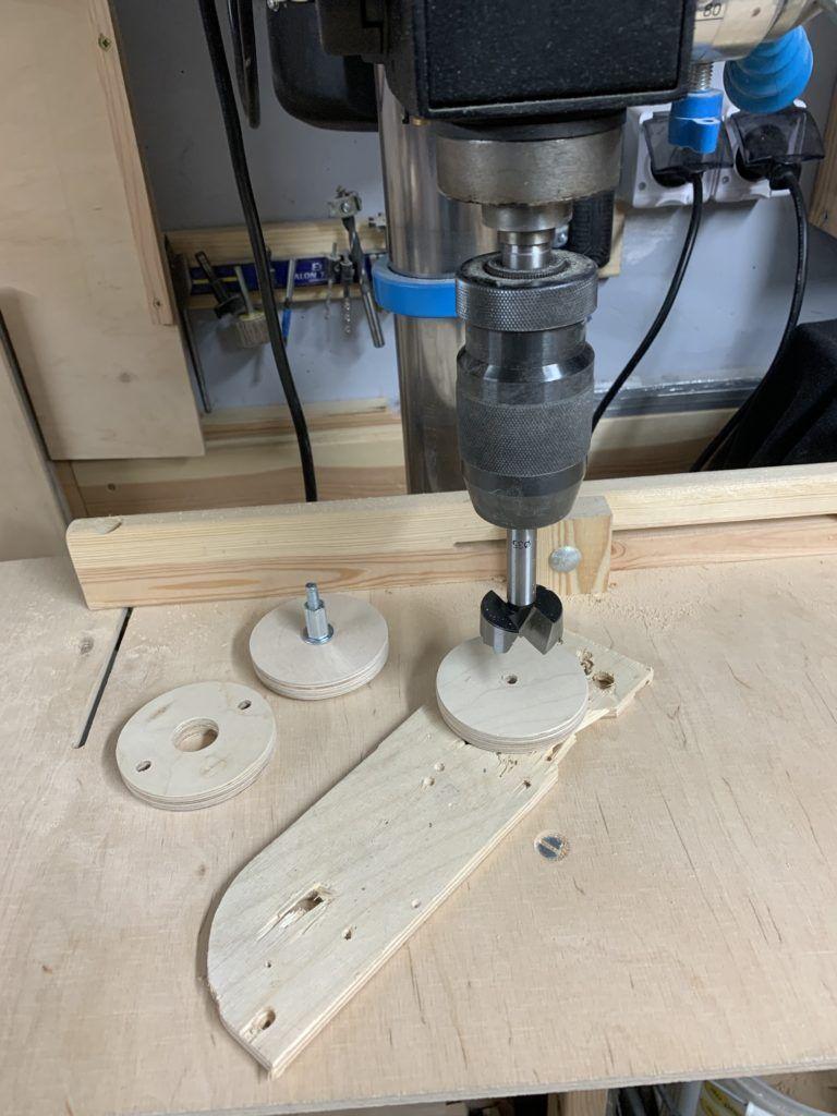 Frezarka - montaż w stole - wkładki