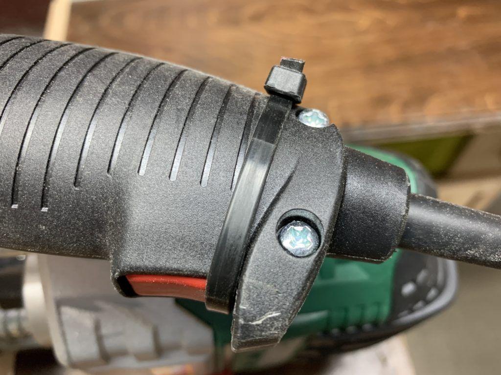 Frezarka - montaż w stole - blokada wyłącznika